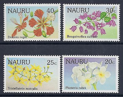 1986 Nauru Flowers Set Of 4 Fine Mint Muh/mnh