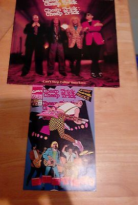 Cheap trick cant stop falli into love + promo busted comic excellent condition