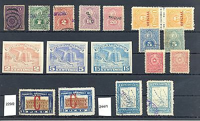 Paraguay 18  St. Varieties Overpr. Perf. And Shades
