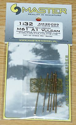 M61 A1 Vulcan (6-barreled rotary 20mm cannon) Master in 1/32