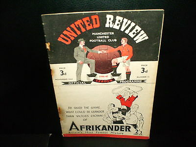 1946/1947  Manchester  United  V.  Huddersfield  Town  Division  1  Match