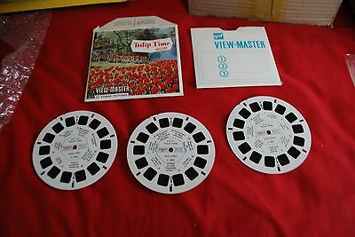 View Master Sawyers 3 Reel Packet Ref C 385 Tulip Time Holland