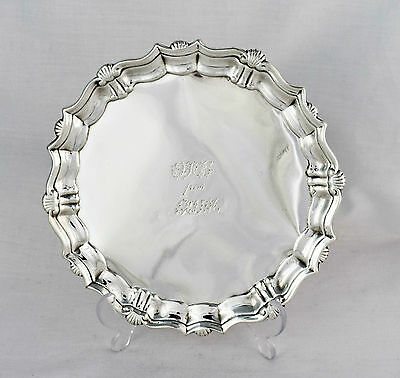 George II Silver Card Tray Waiter John Tuite 1740 Salver Georgian
