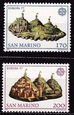 San Marino #906-907 Mnh Europa Cept 1977 (Painting By Guercino)