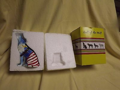 Westland Giftware Call of the Wolf Resin Figurine American Eagle Rare! WITH BOX