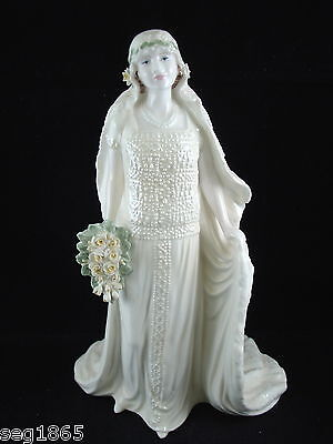 Coalport Ltd. Ed. Royal Bride Figurine - Queen Elizabeth Queen Mother 3736/ 7500