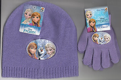 Disney Frozen Winter Warm Hat & Gloves Set One Size Ages 3-7 Years New