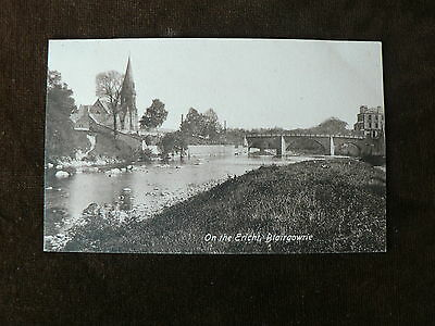 Vintage Valentine's Series Postcard: On the Ericht, Blairgowrie, Scotland, River