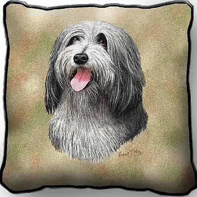 """17"""" x 17"""" Pillow - Bearded Collie by Robert May 1151"""