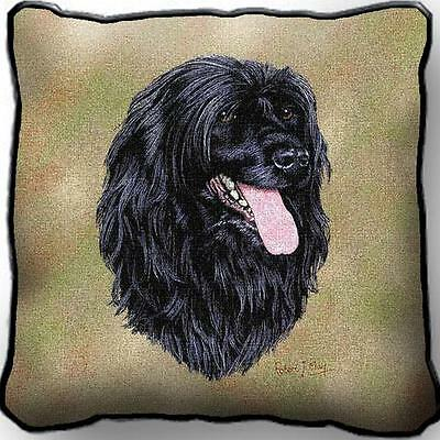 """17"""" x 17"""" Pillow - Portuguese Water Dog by Robert May 3379"""