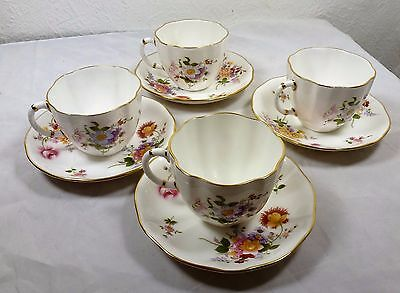Royal Crown Derby Posies   Tea cups and saucers x 4 -Reduced Price