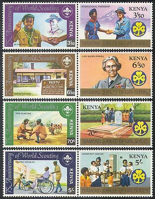 Kenya 1982 Baden Powell/Scouts/Scouting/Tree Planting/Girl Guides 8v set n40086