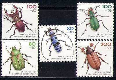 Germany 1993 Welfare/Beetles/Insects/Nature 5v (n27871)