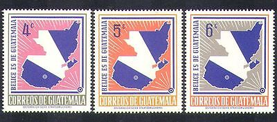 Guatemala 1967 Map/Politics/Animation 3v set (n37228)