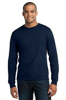 6 New Long Sleeve Made In USA TShirts 2XL Embroidered Free4Ur Business Company