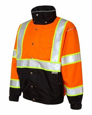 2 New Bomber Safety Jackets Embroidered4Ur Construction Company WHeavy Equipment