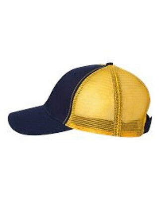 SALE 6 New Navy/Gold Mesh Back Trucker Hats EmbroideredFreeW Ur Company Name
