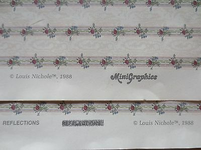 nos MINIATURE DOLLHOUSE mini graphics LOUIS NICOLE REFLECTIONS wallpaper 11.5x18