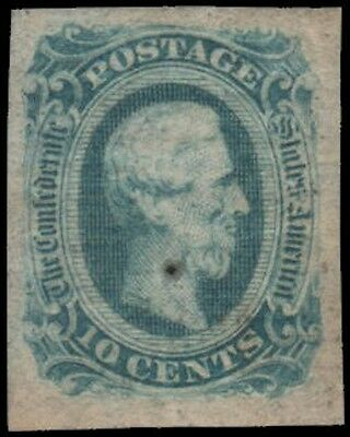 Confederate States of America #12a NG milky blue