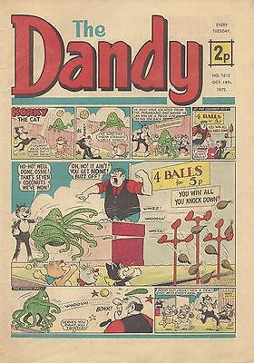 The Dandy Comic Number1612 October 16th 1972