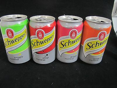 Schweppes  israel: 4 x empty 330ml  cans, a  complete set of  2010