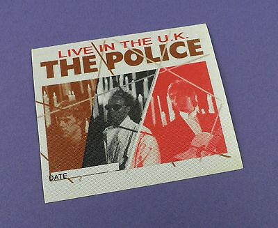 The Police - Original Backstage Pass - Live In The U.K.- Unused Stock !