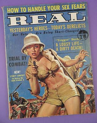 REAL - Mens Adventure Pulp Magazine October 1962