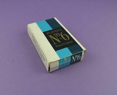 Vintage Cigarette Packet - Players No. 6 Filter Virginia - 10s Size