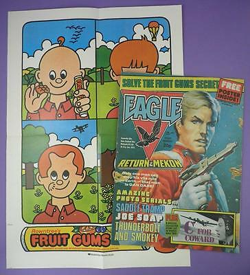 Eagle Comic 10th July 1982 + Original Rowntree Fruit Gum Poster