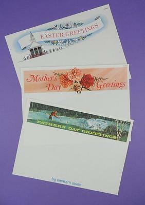 Western Union Easter, Mother's Day & Father's Day Unused Greetings