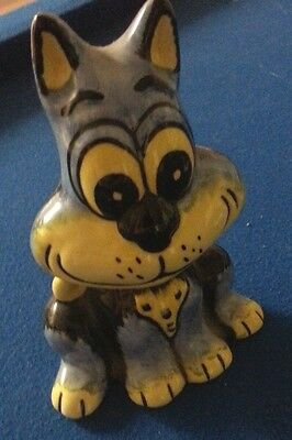 Lorna Bailey Blue and Yellow Cat Excellent Condition FREE P&P