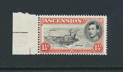 """ASCENSION 1938, 1½d """"DAVIT FLAW"""" VARIETY,VF NEVER HINGED SG#40a(SEE BELOW)"""