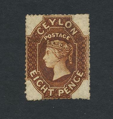 CEYLON 1881, 8d BROWN,  VF MINT SG#32 CAT$2150+/- (SEE BELOW)