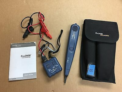 (LotA) PERFECT Fluke Networks Pro3000 Tone Generator and Probe Kit, Case