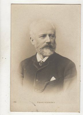 Tchaikovsky Russian Composer Vintage RP Postcard 630b