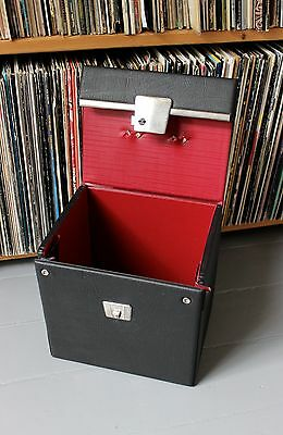 """VINTAGE RECORD BOX 7"""" Singles / 45s (1960s) *WITH KEY*"""