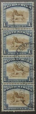 South Africa #29 Used, Bilingual Pair, Perf 14, 1927-28