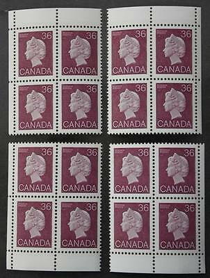 #926A MNH OG, M/S Of 4 Plate Blocks, Scarce Issue