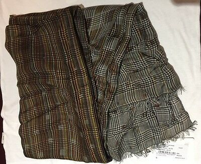 Mens Paul Smith Multi Check Grey / Red Traditional Colour Silk Scarf - BNWT £175