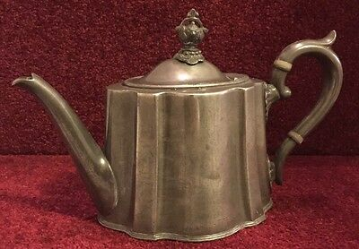 Antique Victirian Pewter Teapot - James Deakin & Sons Sheffield