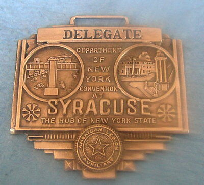 "Vint c1940 American Legion ""DELEGATE"" Convention Fob Syracuse NY; Great Images"