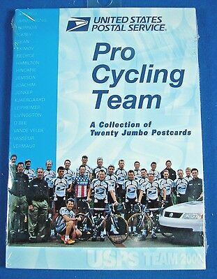 NEW USPS Pro Cycling Team 20 Jumbo Postcards Lance Armstrong Sealed Year 2000