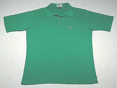 Vintage IZOD LACOSTE Polo Shirt (Early 80s) Green PREPPY/COUNTRY CLUB! WOW! L
