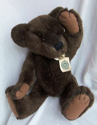 """Boyd's 20"""" MAXIMILLIAN Bear, Archive Collection w/hangtag. Leather collar w/bell"""