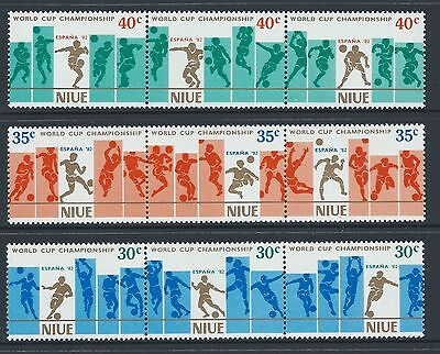 1981 Niue Football World Cup: Spain '82 Set Of 9 Fine Mint Muh/mnh