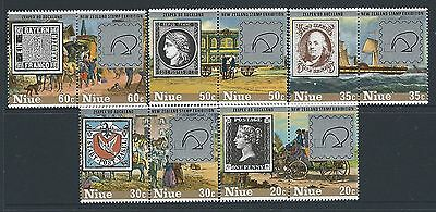 1980 Niue Zeapex Stamp Exhibition New Zealand Set Of 10 Fine Mint Muh/mnh
