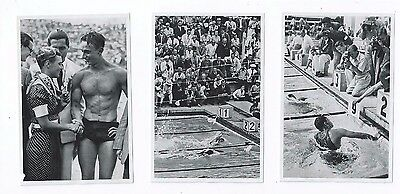 3 x 1936 Olympics Berlin Swimming Swimmers Freestyle