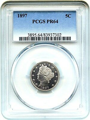 1897 5c PCGS PR 64 - Liberty V Nickel