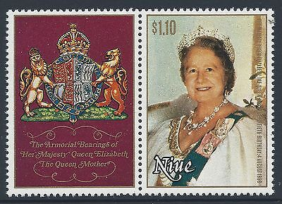 1980 NIUE QUEEN MOTHER 80th BIRTHDAY $1.10 STAMP FINE MINT MUH/MNH WITH TAB