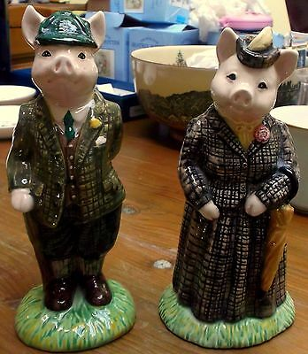 ROYAL DOULTON BESWICK  LADY & GENTLEMAN SPECIAL EDITION PIGS Country Folk